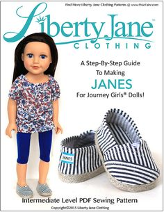 Pixie Faire Liberty Jane JANES Doll Clothes by PixieFairePatterns