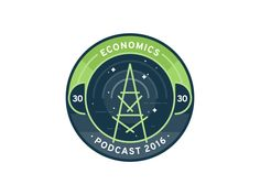Economics Podcast Badge by Vy Tat #Design Popular #Dribbble #shots