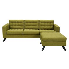 Avocado Green Mina Sofa Set - Black