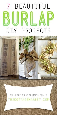 7 Beautiful Burlap DIY Projects - The Cottage Market