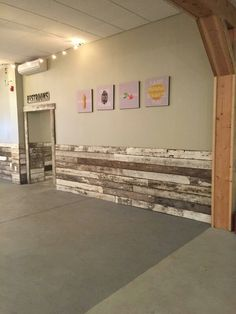 Diy barnwood wall stylish home basement ceiling ideas for different rooms basement ceiling ideas wainscoting rustic wainscoting and barn wood diy barnwood Rustic Wainscoting, Wainscoting Kitchen, Dining Room Wainscoting, Wainscoting Styles, Wainscoting Panels, Wainscoting Height, Barnwood Paneling, Painted Wainscoting, Pallet Walls