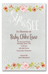 Sip and See Baby Shower Invitations (BI-BH-53)