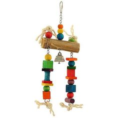 Bamboo Log Parrot Toy - Medium A durable, chewable toy with foraging opportunities.