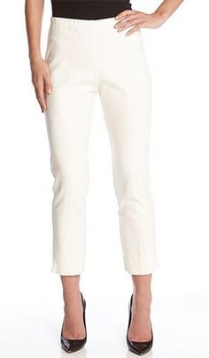 Cream Soft Stretch Clean Front Crop Pant