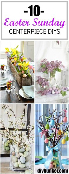 These Easter centerpieces are so easy and cute to make!