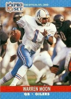 Warren Moon Football Card (Houston Oilers) 1990 Pro Set  517 by Hall of 0a3e35b2b
