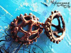Hemisphere bronze spacer - Handmade findings - Handmade findings 1253