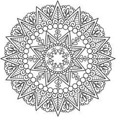 ԑ̮̑♦̮̑ɜ Mandala para Colorear ԑ̮̑♦̮̑ɜ