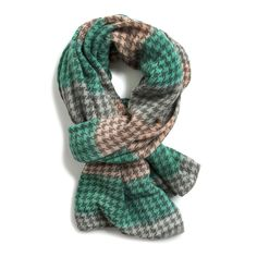 Chester Colorblock Houndstooth Scarf