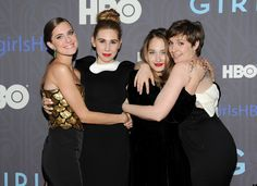Allison Williams, Zosia Mamet, Jemima Kirke and Lena Dunham