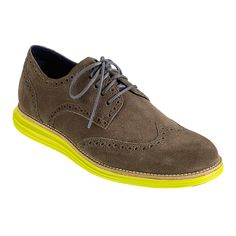 8b295938b1f Cole Haan LunarGrand Wingtip in Gull Grey Suede Volt Cole Haan Shoes