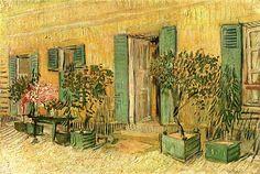 Vincent Van Gogh. Exterior of a Restaurant at Asnières (1887).