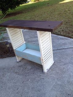 console table from shutters - Google Search