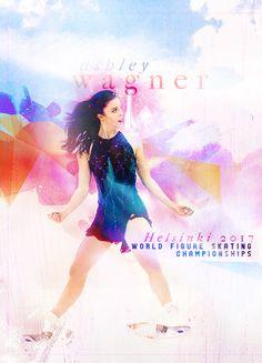 """realdetective:  """" Worlds 2017   Ashley Wagner (2/ ¯\_(ツ)_/¯)  """""""