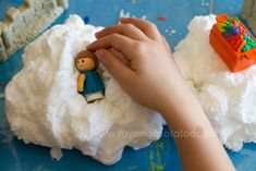 ivory soap in the microwave makes clouds! sensory bin idea for letter C