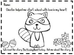 kissing hand activities: free chester the raccoon coloring page ... - Chester Raccoon Coloring Page