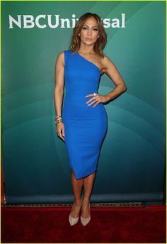 Jennifer Lopez Says Shonda Rhimes Made Television 'Interesting Again' | jennifer lopez wears blue while promoting shades of blue 01 - Photo