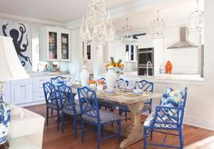 Lance Jackson and David Ecton from  Parker Kennedy Living  are two of my favorite designers, and this fun and playful Sea Island, Georiga ho...