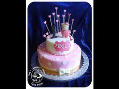 TORTY * CIASTECZKA * BABECZKI - AGATA ANDRYS: PIĘTROWY RÓŻOWY TORT NA ROCZEK DZIEWCZYNKI Z HELLO KITTY / storey (double decker) pink 1st birthday cake for girl