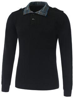 Rib Cuff Epaulet Design Button Up Knitwear #hats, #watches, #belts, #fashion, #style
