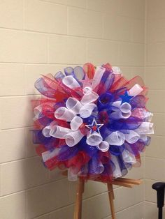 Patriotic deco wreath