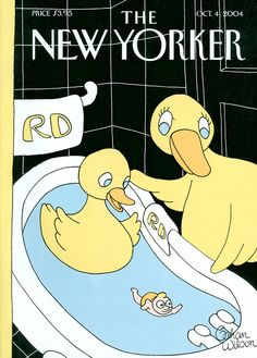 "The New Yorker - Monday, October 4, 2004 - Issue # 4092 - Vol. 80 - N° 29 - Cover ""Rubber Ducky"" by Gahan Wilson"