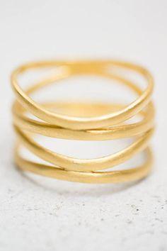 Karen Liberman 22k Gold Single Spiral Ring