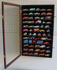 Hot Wheels 1:64 Matchbox Car Display Case Cabinet by DisplayGifts