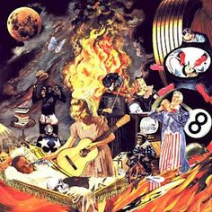 """""""God Told Me To Skin You Alive"""" - collage created by artist Winston Smith, used by band Green Day for their """"Insomniac"""" cover."""