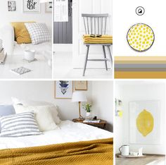 A soothing colour scheme of yellow and greys