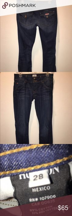 Hudson dark wash bootcut jeans Low rise, very flattering. Never before worn! Hudson Jeans Pants Boot Cut & Flare