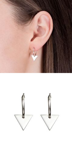 Natasha Sherling | Wolf & badger  #earrings #jewellery #sterlingsilver #triangles