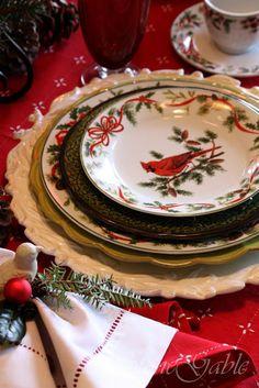 StoneGable: Christmas Brunch Tablescape