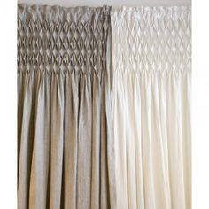 Pom Pom at Home Organic Smocked Curtain Panel in Flax~via The Bella Cottage