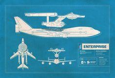 NASA Mashups, Blueprints of NASA Vehicles Combined With Pop Culture Symbols