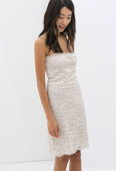 c50eecbcd4c8 Brides.com  37 Little White Dresses You Can Buy Right Now. Lace dress