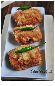 Deep Fried Tofu stuffed with Vegetables- Tahu Pong