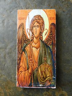 St Michael the Archangel Russian Icon Housewarming Religious Icon for Sale