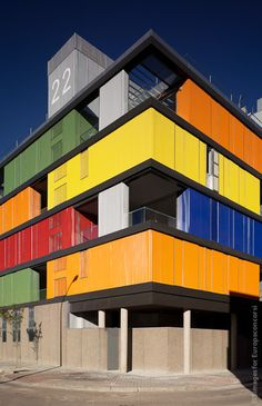 Awesome Ideas You Can Learn About Shipping Container Apartment 13 Architecture Design, Architecture Concept Drawings, Amazing Architecture, Container Buildings, Container Architecture, Container Houses, Industrial Office Design, Warehouse Design, Shipping Container Homes