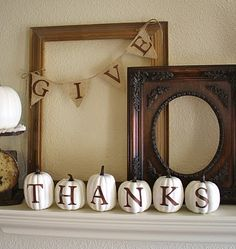 thanksgiving mantle decor decor