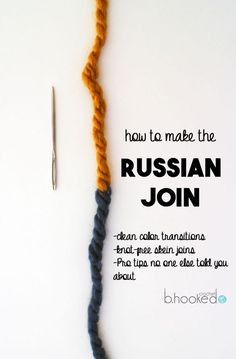 Russian Join Yarn Without Knots or Ends a Tutorial from B.Hooked Russian Join Yarn Without Knots or Ends a Tutorial from B.Hooked,Russian yarn join Russian Join: Change Skeins Without Knots or Ends – B. Loom Knitting, Knitting Stitches, Knitting Needles, Free Knitting, Knitting Machine, Vintage Knitting, Knitting And Crocheting, Finger Knitting, Knit Or Crochet