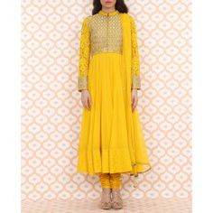 Blazing Yellow Anarkali Suit