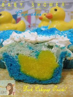 Lady Behind The Curtain - Rubber Duckie Baby Shower Cupcakes