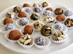 raw truffles, a wonderful dessert