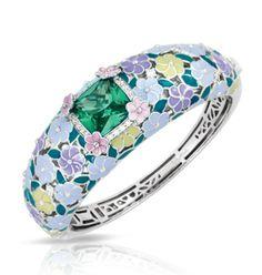 Enchanted Garden Emerald Bangle by Belle Étoile