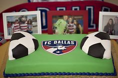 FC Dallas Groom's Cake for FCD's biggest fan! - Fall Wedding
