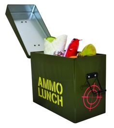 This Ammo Lunch Box will keep your lunch safe and sound whilst you're battling your way across the office or classroom. Painted in camouflage green and made Presents For Men, Gifts For Him, Best Holiday Deals, Online Gifts, Online Deals, Recipe For Mom, Unusual Gifts, Novelty Gifts, Fathers Day Gifts