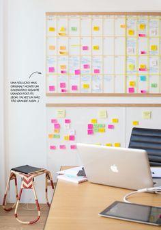 giant post-it calendar #decor #homeoffice #escritorio