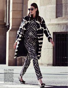 mixing prints - Djamila Del Pino Hits the Streets for Vogue Mexico by Elena Bofill
