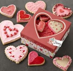 Love All Around Heart Cookies for Valentine's Day